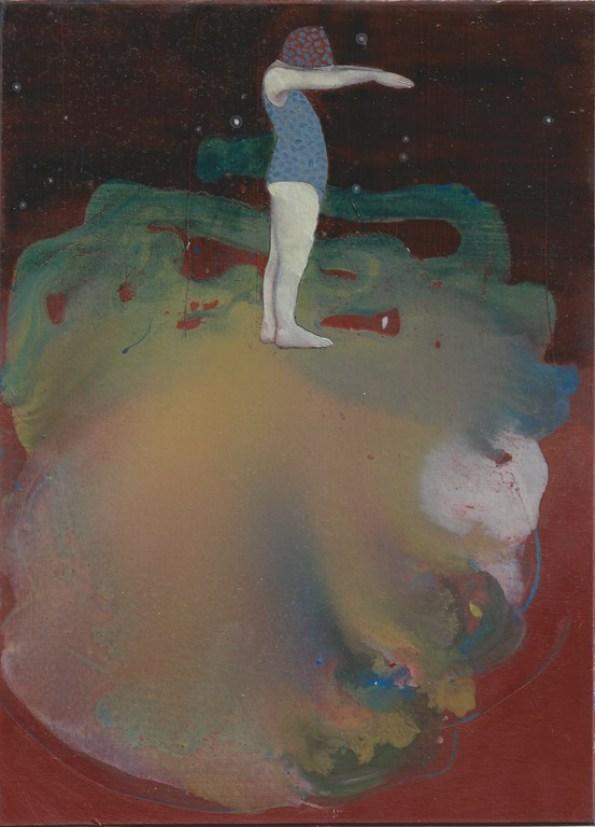 Elisa Bertaglia, Brutal Imagination, 2016, olio e pastelli su carta, cm 22,8x16,6