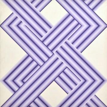 Fernanda Fedi, Struttura XXX (Strutture incrociate), 1975, acrilico su tela, 110x110 cm