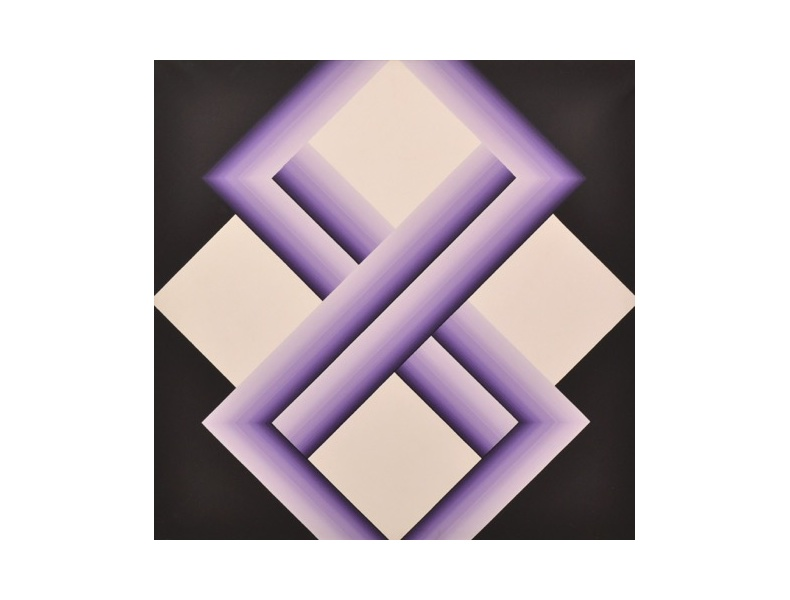 Fernanda Fedi, Struttura, 1975, acrilico su tela, 110x110 cm