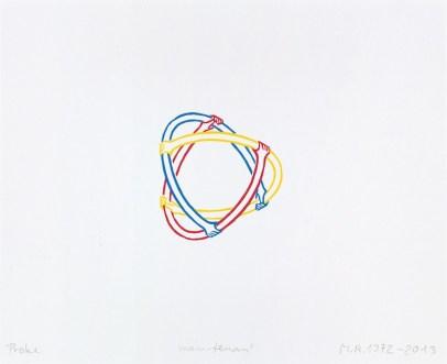 Markus Raetz, Main-tenant, 1972-2013, xilografia, 85x80 mm © 2016 Markus Raetz, Prolitteris, Zürich