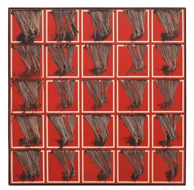 Emilio Scanavino, Le frange, 1974, olio su tela, 150x150 cm