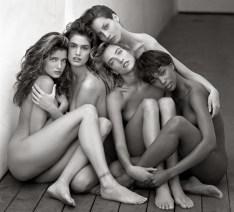 Herb Ritts, Stephanie, Cindy, Cristy, Tatjana, Naomi, Hollywood 1989 © Herb Ritts Foundation