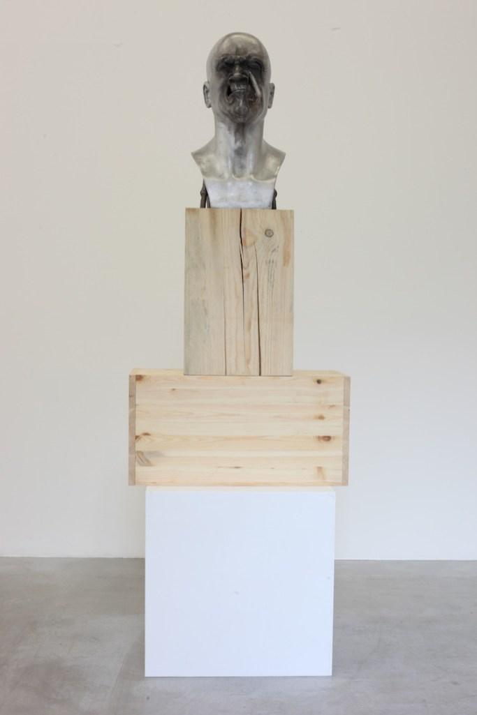 Bernardì Roig, Senza Titolo, 2016, fusione di alluminio, dimensioni reali Courtesy of Maurizio Caldirola Arte Contemporanea Photo Bruno Bani