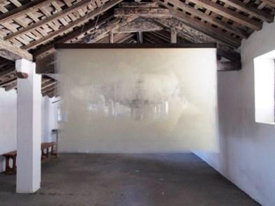 Giorgio Tentolini, Intersectio, 2016, rete in fibra incisa a mano, 100x150x45 cm Cortesy l'artista Foto Andrea Repetto