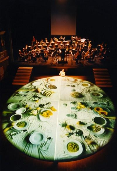 """STUDIO AZZURRO, Giacomo Mio Opera video-musicale, musiche di Giorgio Battistelli 1998 Teatro Lauro Rossi, Macerata """"TTVV Festival"""" Sole d'oro, Riccione"""