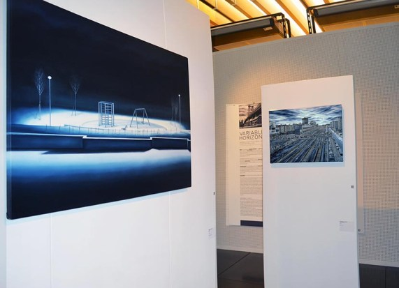 Andrea Chiesi. Orizzonte variabile, veduta della mostra, CUBO, Spazio Arte, Bologna