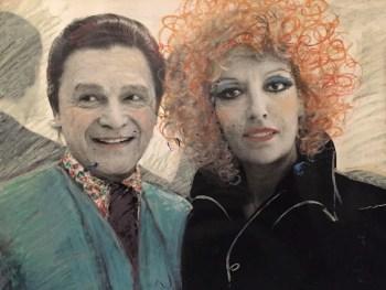 Fulvia Levi Bianchi con il gallerista Alexandre Iolas