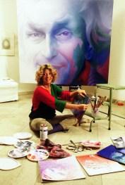 Fulvia Levi Bianchi dipinge Missoni