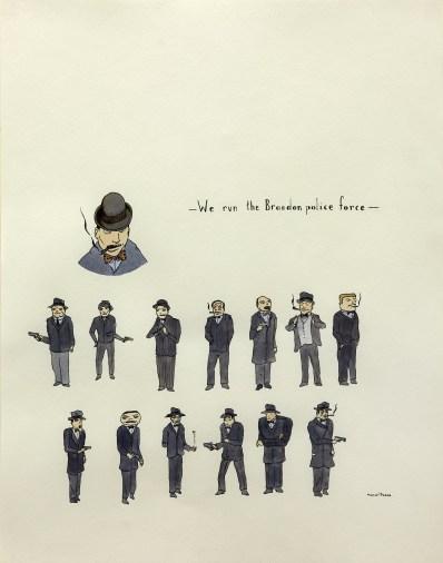 Marcel Dzama, Senza titolo, 2003, disegno, inchiostro e acquerello su carta, cm. 35,5x27,9