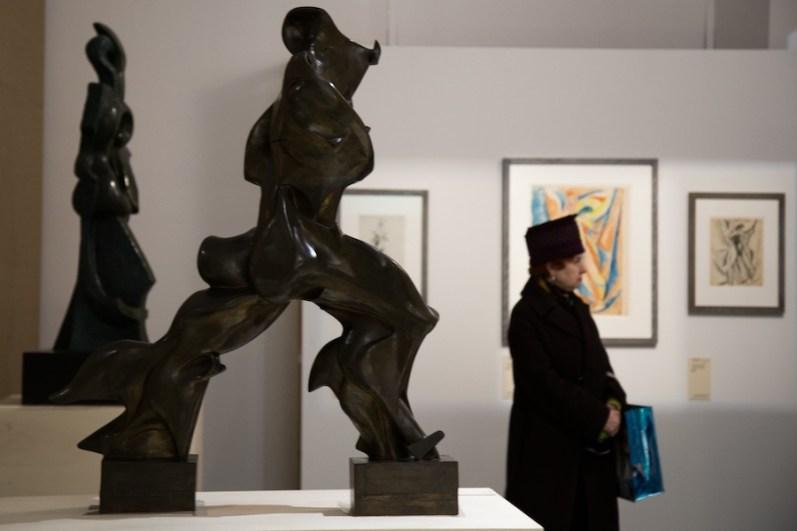Umberto Boccioni (1882 - 1916). Genio e Memoria, veduta della mostra, Palazzo Reale, Milano Foto Martina Civardi