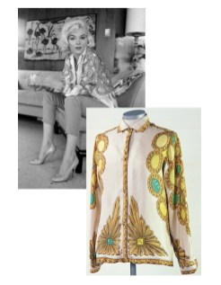 Original photo by George Barriy, Marilyn in 1962 wearing her Pucci blouse. Collection Stampfer / Minguez Ricart. Image collage: Copyrights Ted Stampfer