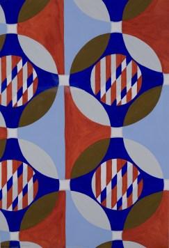 Bruno Munari, Progetto grafico per tessuto, 1950, tempera su cartoncino. Bologna, Fondazione Massimo e Sonia Cirulli