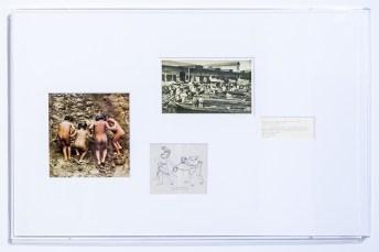 Beto Shwafaty, 25 Framings #11 — #11 (eleven pieces), 2016, printed matter passepartout, plexiglas, 93x67x4 cm Courtesy dell'artista e Prometeogallery di Ida Pisani