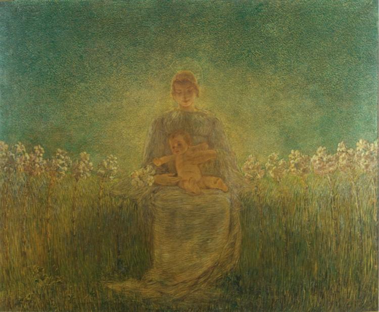Gaetano Previati, La Madonna dei Gigli, 1893, Galleria d'Arte Moderna, Milano