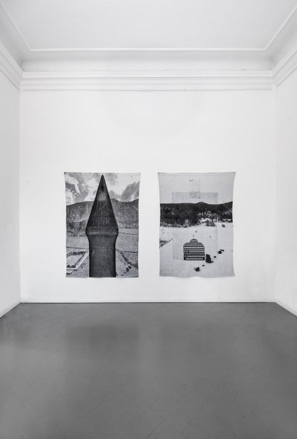 La Forma della Città, veduta della mostra, Elena El Asmar, Reverie, 2016, Arazzo, 220x170 cad.