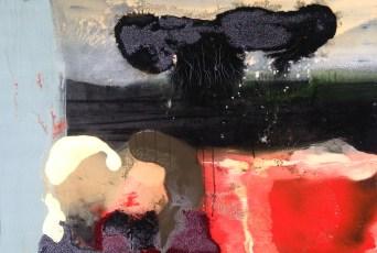 Gina Hoover, A subway moment, olio su tela, 91x132, 2015.