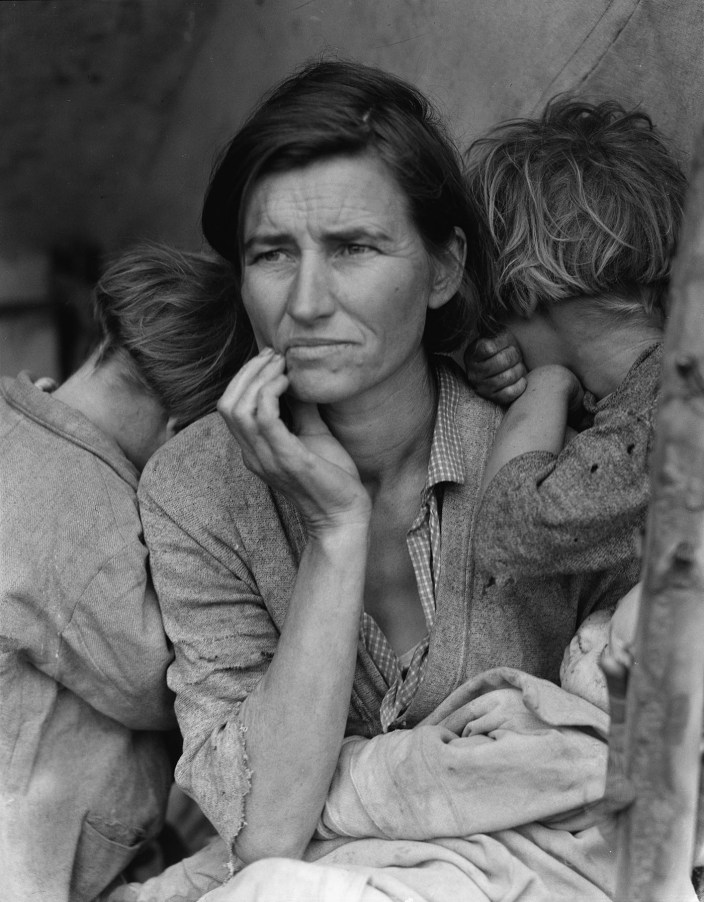Dorothea Lange, Migrant Mother, Nipomo, San Luis Obispo County, California, 1936