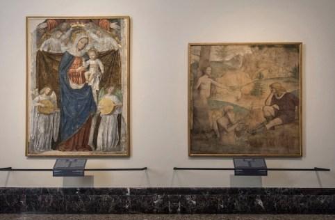 Il nuovo allestimento della Pinacoteca di Brera: Affreschi Lombardi XIV-XV secolo, Sala 1 © James O'Mara