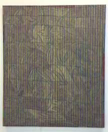 Chip Hughes, Crewel Cotton, 2016, olio su cotone, 132 x 112 cm. Courtesy the artist and KS Art, New York © the artist