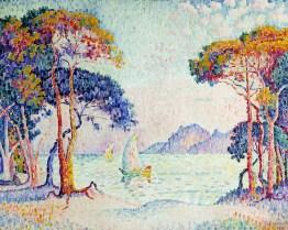 Paul Signac, Juan-les-Pins. Soir, 1914, olio su tela, 73x92 cm, Collezione privata Fotografia: Maurice Aeschimann