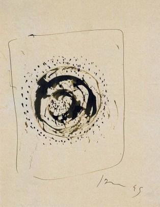 Fontana Lucio, Concetto Spaziale 1945, China su carta cm 22x27,5