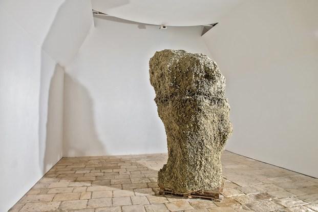 Victor Agius, Mother, 2004, Raw clay, Ggantija 2013 Project, St James Cavalier, Valletta Malta, m 1.5x1.4x3.1