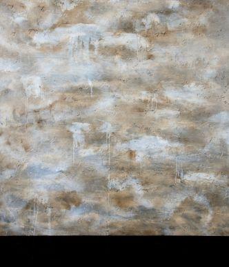 Alfredo Rapetti Mogol, Cielo mediterraneo, acrilico e bitume su tela, 120x140 cm