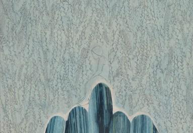 Elisa Bertaglia, Out of the Blue, 2016, olio, pastelli, carboncino e grafite su carta, 30x23 cm, particolare