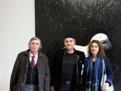 Sandro Parmiggiani, Omar Galliani, Angela Marchetti (Assessore alla Cultura)