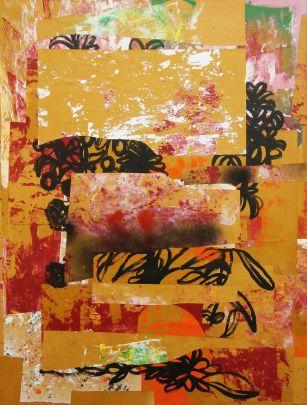 Michael Rotondi, Still Life, 2016, tecnica mista su tela, 80x60 cm