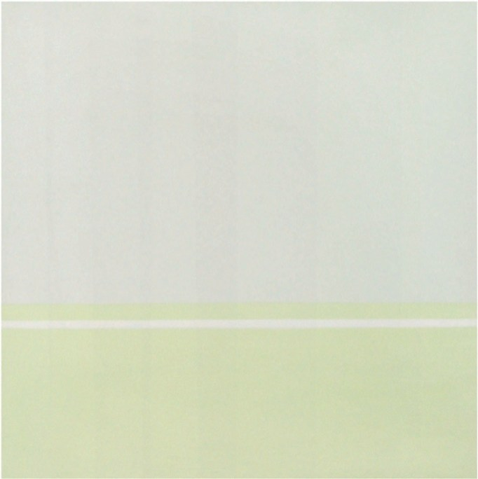 Antonio Calderara, Orizzonti 0-0=0, 1968, olio su tavola, 53x53 cm, Sammlung Hackenberg, München Foto Rupert Walser