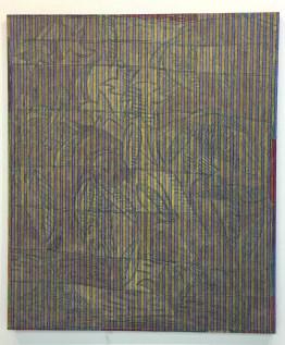 Chip Hughes, Crewel Cotton, 2016, olio su cotone, 132 x 112 cm, Courtesy the artist and KS Art, New York, © the artist