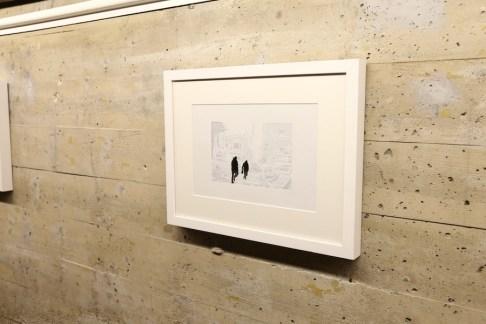 Giorgio Tentolini, Iconoclaste, 2016, carta pergamena bianca intagliata e sovrapposta a fondale nero, 18x26 cm