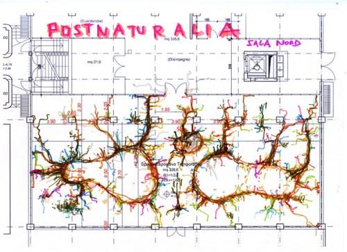 """Krištof Kintera, Progetto per il """"Systemus Postnaturalis"""" nella Sala Nord della Collezione Maramotti, 2016. Courtesy and © Krištof Kintera. Ph. C. Archive of the artist"""