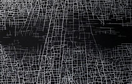 Massimiliano Galliani, Le Strade Del Tempo 2012 acrilico su tela cm 280 x 420