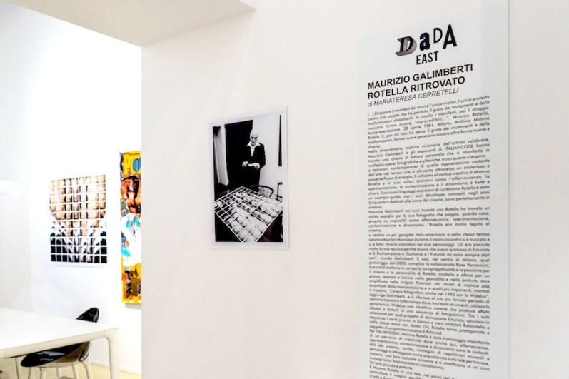 Maurizio Galimberti. Rotella ritrovato | Italiancode. Rotella ricodificato, veduta della mostra, Dada East Gallery, Milano Foto Francesca Romano