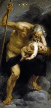 Pietro Paolo Rubens, Saturno che divora uno dei suoi figli, 1636-1638, olio su tela, 182.5x87 cm, Madrid, Museo del Prado