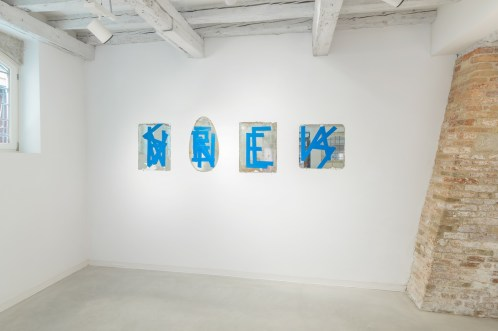 CCH, Reinassance, 2013, military adhesive tape on mirrors, variable measures