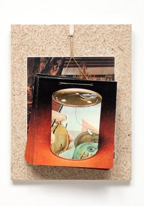 Jiří Kolář, Nel gemito della notte, 1978, collage à accrocher, 39.5x30.5 cm