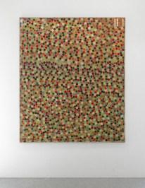 Mirco Marchelli, Giardino religioso, 2010, stoffa, cera, tempera e legno, 182x152 cm Courtesy Cardelli & Fontana, Sarzana (SP)