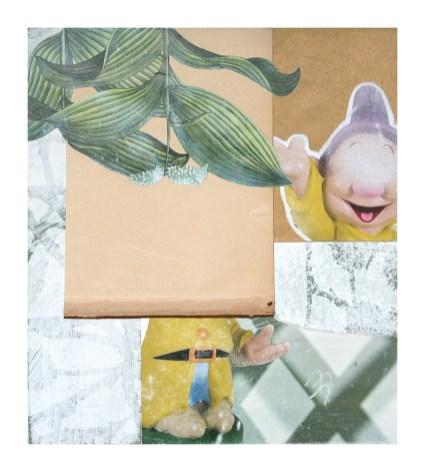 Luca Coser, Il dorso delle cose, 2013, serie di 7, tecnica mista e collage su cartoncino, cm 33x365. Derwatt Studio - Trento. Foto: Ulrich Egger