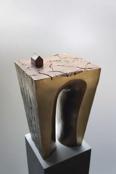 NAGATANI, I paesaggi dell'anima, 2009, Bronzo patinato, 42x26x24 cm