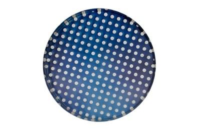 Matteo Negri, Kamigami Cobalt Bubble, 2017, tecnica mista su legno, acciaio cromato e verniciato, 120x120x16 cm Courtesy Lorenzelli Arte, Milano