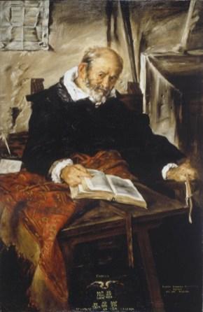Giovanni Serodine, Ritratto del padre, 1628, olio su tela, 155x99 cm, Museo d'arte della Svizzera italiana, Lugano. Collezione Città di Lugano