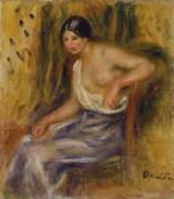 Pierre-Auguste Renoir, Femme assise, 1910ca., olio su tela, 26.2 x 23.2 cm, Museo d'arte della Svizzera italiana, Lugano. Collezione Cantone Ticino. Donazione Ida Lenggenhager Tschannen