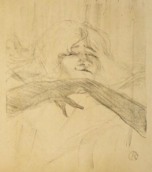 Henri de Toulouse-Lautrec, Yvette Guibert, linger, longer, loo, 1898, litografia, 32.4x26.6 cm (foglio 49.9x37.5 cm)
