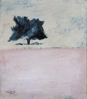 Carlo Mattioli, Paesaggio, 1971, olio su tela, 45x40 cm Collezione privata Crediti Archivio Mattioli