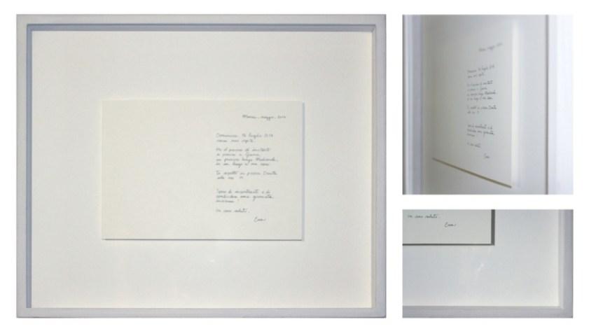 Tea Andreoletti (Gromo 1991), Invito a pranzo, luglio 2017, inchiostro su carta di cotone, 32x38x5 cm