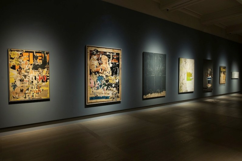 New York New York. Arte italiana. La riscoperta dell'America, veduta della mostra (Rotella e Schifano), Gallerie d'Italia, Milano Foto di Maurizio Tosto