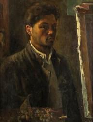 Giancarlo Vitali, Autoritratto, 1946, olio su tavola, 64x49 cm